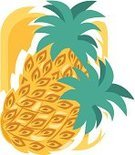 Food,Backgrounds,Pineapple,Ilustration,Vector