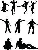 Sitting,Silhouette,People,Men,One Person,Pointing,Sport,Vector,Male,Jumping,Action,Muscular Build,Exercising,Running,Strength,Motion,Fun,Relaxation Exercise,Athlete,Energy,Adult,Computer Graphic,Young Adult,Physical Activity,Variation,Summer,Speed,Carefree,Acute Angle,Excitement,Design Element,Design,Competition,Runs,Organized Group