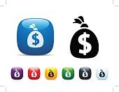 Millionnaire,Dollar Sign,Vector,Clip Art,Icon Set,Electronic Banking,Interface Icons,Interest Rate,Currency,Making Money,Savings,Money Bag,Wealth,Symbol