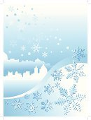 City,Christmas,Winter,Town,Ice,Snowing,Ice Crystal,December,Illustrations And Vector Art,Holidays And Celebrations,Snowflake,Ilustration,Falling,Backgrounds,Cold - Termperature