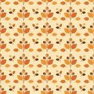 Vector,Leaf,Acorn,Autumn,Seamless,Pattern,In A Row,Ilustration,Repetition,Orange Color,Brown