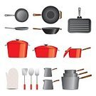 Cooking Pan,Cooking,Frying Pan,Kitchen Utensil,Wok,Casserole,Kitchenware Department,Skillet - Cooking Pan,Stew Pot,Griddle,Preparing Food,Vector,Household Equipment,Equipment,fryer,Ilustration,Computer Graphic,Protective Glove,Preparation,Stainless Steel,Steel,Metal,Color Image,Design,Large Group of Objects,Square,Travel Locations,Food And Drink,Service,Fish Kettle