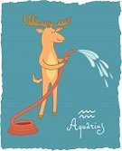 Sign,Ilustration,Moose,Aquarius,Astrology Sign,Simplicity,Computer Graphic,Fortune Telling,Part Of,Cartoon,Calendar,Design Element,Isolated,Garden Hose,Constellation,Stream,Deer,Vector,Drawing - Art Product,Symbol,Childishness,Set,Astrology,Water,Animal,Mythology,Forecasting,Astronomy,Vibrant Color,Month