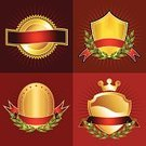 Insignia,Gold Colored,Certificate,Shield,Medal,Ribbon,Banner,Gold,Crown,Symbol,Label,Placard,Coat Of Arms,Medallion,Laurel Wreath,template,Decoration,Exploding,Illustrations And Vector Art,Sign,Sunlight,Star Shape