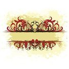 Floral Pattern,Vector,Ilustration,Stained,Abstract,Retro Revival,Banner,Style,Paint,Decoration,Red,Ornate,Curled Up,Shape,Concepts,Image,Design,Decor,Creativity,Curve,Art,Frame,Computer Graphic,Backgrounds,Grunge