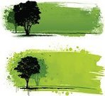 Tree,Abstract,Design Element,Digitally Generated Image,Silhouette,Part Of,Grunge,Nature,Horizontal,Pattern,Bird,Outdoors,Messy,Colors,Drop,Computer Graphic,paint strokes,Design,Green Color,Splattered,Ilustration,Outline,Color Image,Copy Space,No People,Set,Landscape,Vector,Backgrounds