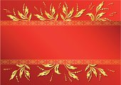 Gold Colored,Decoration,Plant,Ornate,Greeting Card,Tracery,Vector,Vibrant Color,Greeting,Floral Pattern,Red,Ribbon,Frame,incarnadine,Decor,Pattern,Backgrounds