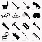 Razor,Safety,Faucet,Silhouette,Plunger,Symbol,Bar Of Soap,Computer Icon,Human Hand,Falling Water,Formal Glove,Shower,Protective Glove,Spa Treatment,Men's Underpants,Utility Room,Mirror,Vector,Single Object,Shampoo,Personal Accessory,Work Tool,Home Interior,Magnifying Glass,Razor Blade,Hedge Clippers,Blade,Soap Dispenser,Flushing,Electricity,Residential Structure,Crockery,Toilet Brush,Comb,Domestic Bathroom,Toothbrush,Water,Pattern,Toilet,Isolated