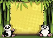 Panda,School,Bamboo,Paw,Bear,Bamboo,Green Color,Curiosity,Nature,Humor,Tropical Rainforest,Sheet,Awe,Animal Eye,Cheerful,Ilustration,Plant,Animal,Woodland,Sideways Glance,Vector,Fun,Hungry,Vitality