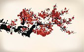 Chinese Culture,Watercolor Paints,Watercolor Painting,China - East Asia,Paint,Cherry Blossom,Tree,Flower,Plum Blossom,Japan,Winter,Japanese Culture,East Asian Culture,Blossom,Sketch,Springtime,Drawing - Art Product,Growth,Pink Color,Design,Ink,Branch,Plum,Winter Sweet