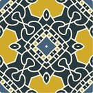 Yellow,Symmetry,Pattern,Decoration,Design Element,Tile,Mosaic,Floral Pattern,Ilustration,Abstract,Ornate,Vector
