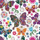 Butterfly - Insect,Pattern,Polka Dot,Spotted,Floral Pattern,Backgrounds,Wallpaper Pattern,Single Flower,Wallpaper,Vibrant Color,Vector,Springtime,Blue,Purple,Pink Color,Effortless,Mandala,Yellow,Old-fashioned,Computer Graphic,Repetition,White,Ilustration,motley,Wrapping Paper,Scrapbook,Fashion,Summer