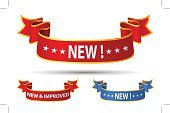 Banner,New,News Event,Quality Control,Red,Improvement,Ribbon,ISTEXT2012,Shiny,Retail,Sign,Curve,Clip Art,White Background,Good Condition,Bent,Announcement Message,Label,Text