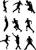 Silhouette,Sport,Running,Athlete,Jogging,Men,Muscular Build,People,Exercising,Male,Jumping,Relaxation Exercise,Vector,Variation,Energy,Strength,Competition,Young Adult,Speed,One Person,Action,Motion,Runs,Design,Excitement,Computer Graphic,Physical Activity,Adult,Design Element,Single Object,Summer,The Four Elements,Organized Group,Moving Office,Fun,Moving House,Weather,Carefree