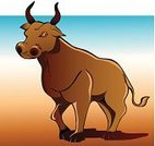 Animal,Bull - Animal,Cartoon,Ilustration,Vector