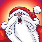 Santa Claus,Christmas,Animation,Bizarre,Cartoon,Funky,Humor,Fun,Characters,Motion,Manga Style,Art,Ilustration,Winter,loony,Cute,Computer Graphic,Holiday,Illustrations And Vector Art,Arts And Entertainment,Time,Visual Art,Concepts And Ideas,new-year,Vector,White,Digitally Generated Image,Season,Isolated