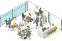Isometric,Office Interior,Business,Computer,Computer Network,Chaos,Human Resources,Photocopier,Vector,Ilustration,Small Business,Document,Receptionist,Communication,Meeting,Indoors,Secretary,Paperwork,Clip Art,Organization,Occupation,Laptop,Working,Presentation,Job - Religious Figure