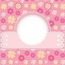 Birthday,Backgrounds,Pink Color,Modern,Frame,Greeting Card,Daisy,Pattern,Design,Art,Star Shape,Beauty,Ornate,Banner,Day,Floral Pattern,Ilustration,Blank,Abstract,Cute