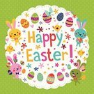 Easter,Cheerful,Happiness,Easter Bunny,Symbol,Ilustration,Easter Basket,Young Bird,Holiday,Banner,Baby Chicken,Easter Chicks,Greeting Card Template,Celebration,April,Eggs,Rabbit - Animal,Greeting Card,Springtime,template,Easter Card,Flower,Pattern,Cartoon,Cute,Greeting,Easter Egg