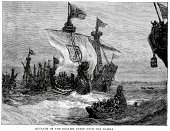 Sailing Ship,Nautical Vessel,Old-fashioned,Military Ship,Ilustration,Antique,Black And White,Damme,Battle,UK,Engraved Image,War,Obsolete,Historical Ship,British Military,Caravel,Royal Navy,Gear,European Culture,Convoy,Historical War Event,Circa 13th Century,Barque,Styles,British Culture,Navy,Europe,Old,The Past,Medieval,Conflict,Middle Ages,Mode of Transport,History,Military,Warship,English Culture,Cultures,Armed Forces,Galley
