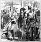 History,Chivalry,Awards Ceremony,Military,Armed Forces,Initiation Ceremony,Young Men,Traditional Ceremony,European Culture,Men,Edward III,English Culture,Black And White,England,Royalty,Male,Celebration Event,Prince Of Wales,Ilustration,Crown Prince,Cultures,Sword,accolade,Weapon,Knight,Conflict,Prince,Medieval,Knighting,Antique,Obsolete,Edward I Of England,Engraved Image,Royal Person,Old,People,Army Soldier,Middle Ages,War,Edward V Of England,Old-fashioned,Circa 14th Century,Black Prince,Induction Ceremony,British Culture,Event,King,UK,Styles,Ceremony,The Past