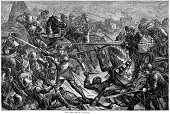Civil War,Engraved Image,Medieval,Spear,Battle,England,Winter,War,Cultures,English Culture,Armed Forces,Old-fashioned,Snow,Black And White,Storm,European Culture,Middle Ages,Army,Europe,Historical War Event,Physical Activity,Styles,Military,Ilustration,History,North Yorkshire,Weapon,British Culture,Army Soldier,Blizzard,Antique,Season,UK,Old,Knight,Snowing,Circa 15th Century,Yorkshire,Fighting,The Past,Conflict,Lance