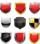 Shield,Vector,Protection,Metal,Sign,Bodyguard,Security System,Safety,Security,Interface Icons,Push Button,Shiny,Symbol,Computer Icon,Computer Bug,Design,heraldic,Classic,Isolated,Clip Art,Silver - Metal,Red,Antivirus Software,Ilustration,Insignia,Chrome,White