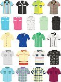 Shirt,Men,Fashion,Casual Clothing,Pocket,Checked,Plaid,Collection,Short Sleeved,Group of Objects,Isolated,Cartoon,Ilustration,Set,Collar,Button,Image,Pattern,Well-dressed,Design,New,Textile,Elegance,Colors,Shopping,Beauty,Retail,Striped,Garment,Style,Clothing,Modern,Cotton,No People,Male,Vector,White Background,Blue,Summer