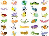 Caterpillar,Cartoon,Ladybug,Butterfly - Insect,Insect,Grasshopper,Snail,Vector,Mosquito,Set,Ant,Cute,Dragonfly,Collection,Isolated,Computer Graphic,Ilustration,Animal,Bee,Fly,Spider,Worm,Nature,Computer Icon