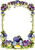 Flower,Leaf,Plant,Butterfly - Insect,Dew,Herb,Purple,Greeting Card,Pansy,Violet,Backgrounds,Picture Frame