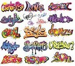 Graffiti,Hip Hop,Text,Wall,Typescript,Vector,Design Element,Backgrounds,Label,Graphitti,Grunge,Set,Single Word,Ilustration,Drawing - Art Product,Paint,Elegance,Cool,Style,Spraying,Fashion,Painted Image,City Life,Ink,Art,Funky,Street,Collection,Fantasy,Creativity,Abstract,Multi Colored,Colors,Design,Computer Graphic,Modern,Forbidden,Decoration,Backdrop,Aerosol Can,Color Image