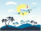 Airplane,Island,Tropical Climate,Caribbean,People Traveling,Travel,Sun,Weekend Activities,Palm Tree,Transportation,Travel Locations,Mode of Transport,Flying,Travel Destinations,Sunlight