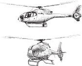 Helicopter,Sketch,Mode of Transport,Air Vehicle,Copter,Isolated On White,Drawing - Art Product,Propeller,Ilustration,Flying,Cockpit,Technology