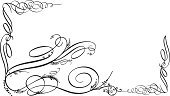 Calligraphy,Swirl,Frame,Growth,Vine,Scroll Shape,Dirty,Design,Floral Pattern,Grunge,Ornate,Design Element,Vector,Decoration,Backgrounds,Springtime,Clip Art,Black And White,Line Art,Horizontal,Season,Ilustration,Damaged,Vector Ornaments,Vector Florals,Vector Backgrounds,Illustrations And Vector Art