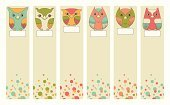 Toy,Multi Colored,Old-fashioned,Cheerful,Childhood,Shape,Owl,Design,Set,Design Element,Playful,Bird,Cartoon,Decor,varicolored,Isolated,Characters,Vector,Cut Out,Ilustration,Bookmark,Label