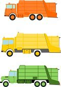 Truck,Recycling,Dump Truck,Retro Revival,Garbage,Vector,Garbage Dump,Transportation,Business,Clean,Container,Green Color,Set,Land Vehicle,City Life,Junk Ship,utilize,Service,Cartoon,Simplicity,Cleaning,Yellow