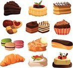 Bakery,Food,Drawing - Art Product,Cookie,Pastry,Cake,Eclair,Chocolate Cake,Macaroon,Meal,Pie,Ilustration,Snack,Strawberry Shortcake,Biscuit,Croissant,Baking,Design Element,Dessert,Cupcake,Tart,Clip Art,Choux Pastry,Fluffy,Fruit,Symbol,Computer Icon,Sweet Food,Vector