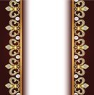 Pearl,Frame,Greeting Card,Textile,Greeting,Backgrounds,Shiny,Gold,Striped,Yellow,Part Of,Image,Painted Image,Ilustration,Bead,Celebration,Decoration,Group of Objects,Vector,Symmetry,Cultures,Pattern,Bouquet,Design,Abstract,In A Row,Colors,Art,Ornate,Curve,Elegance,Shape,template