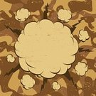 War,Army,Cloud - Sky,Backgrounds,Retro Revival,Old-fashioned,Copy Space,Ilustration,Abstract,Cartoon,Yellow,Messy,Comic Book,Boom,Vector,No People,Label,Brown,Drawing - Art Product,Grunge,Placard,Speech Bubble,Frame,Camouflage,Exploding,Beige