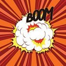 Comic Book,Exploding,Abstract,Cartoon,Boom,Grunge,Vector,Ilustration,Speech Bubble,Backgrounds,Retro Revival,Old-fashioned,No People,Copy Space,Bang,Messy,Cloud - Sky,Frame,Red,Drawing - Art Product,Orange Color,Striped,White,Yellow,Placard,Label