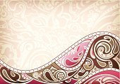 Backgrounds,Brown,Pink Color,Design,Curve,Vector,Ilustration,Abstract