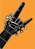 Rock and Roll,Poster,Guitar,Modern Rock,Human Hand,Punk,Ideas,Vertical,Human Finger,Gesturing,Grunge,Vector,Musical Instrument String,Fist,Wrist,Music