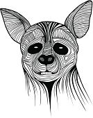 Fox,Sketch,Travel,Mascot,Spooky,Ilustration,Portrait,Vector,Nature,Insignia,Cruel,Cute,Design,Symbol,Animal,Clip Art,Avatar,Tattoo,Carnivore,Design Element,Mammal,Wildlife,Danger,Horror,Front View,Africa,Animals In The Wild,Animal Head,Canine,Hyena,Drawing - Art Product,Sign,Animals Hunting,Style,Decor,Dog,hand drawn,Snout