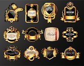 Label,Wine,Award Ribbon,Wine Bottle,Square,Ilustration,Branch,Floral Pattern,Frame,Picture Frame,Collection,Illustrations And Vector Art,Shape,Set,Decoration,Wreath,Decor,Alcohol,Luxury,Retro Revival,Badge,Elegance,Ribbon,Pattern,Entertainment,Swirl,Old-fashioned,Shiny,Black Color,Gold Colored,Gold,Vector,Circle,Packaging,heraldic,Concepts And Ideas,Alcohol,Crown,Ornate,Sign,Laurel Wreath
