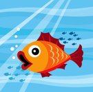 Fish,Goldfish,Cartoon,Sea Life,Golden,Sea,Large,Animal,Cute,Pets,Gold,Gold Colored,Tropical Climate,Orange Color,Bubble,Color Image,goldenfish,Domestic Life,Sea Life,Illustrations And Vector Art,Animals And Pets,Nature
