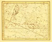 Star Chart,Map,Constellation,Astrology Sign,Star - Space,Fortune Telling,Cartography,Ancient,Old,Pisces,Antique,Old-fashioned,Engraving,Medieval,Retro Revival,Life,Engraved Image,Sign,Photography,Physical Geography,Single Object,Concepts And Ideas,February,Futuristic,Topography,No People,Medicine And Science,Color Image,March