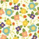 Plant,Seamless,Wallpaper Pattern,Flower,Nature,Backgrounds,Textile,Pattern,Single Flower