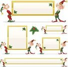 Elf,Christmas,Sign,Holiday,Humor,Blank,Holly,Fun,Cute,Gold Colored,Shiny,Green Color,Red,Gold,Heavy,Christmas,Holidays And Celebrations,holding sign,Smiling,Illustrations And Vector Art