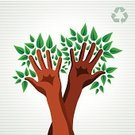 Human Hand,Tree Trunk,Tree,Symbol,Environment,Ideas,Environmental Conservation,Ilustration,Concepts,Green Color,Vector