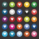 Heart Shape,Heart Suit,Blue,Turquoise,Icon Set,Orange Color,Set,Interface Icons,Purple,Symbol,Loving,White,favorite,Green Color,Love,Label,Push Button,Badge,Emotion,Satin,Variation,Shadow,Passion,Romance,Circle,Application Form,Gray Background,Gray,Clip Art,Pink Color,Brown,Design Element,Smooth,Sign,Black Color,Red,Yellow,Magenta,Softness,Flirting,Positive Emotion,Series,Bookmark,Isolated On Gray,Friendship,Vector,Valentine's Day - Holiday